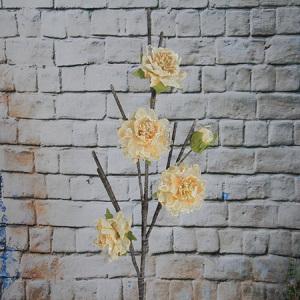 114 Artificial/Decorative Organza Flower Peony 4 Flowers
