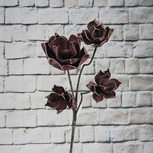 90Cm Artificial Decorative Printed Foam Flower Rose