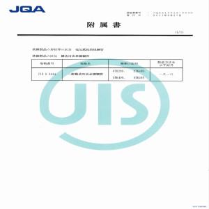 JIS Certificate - P2