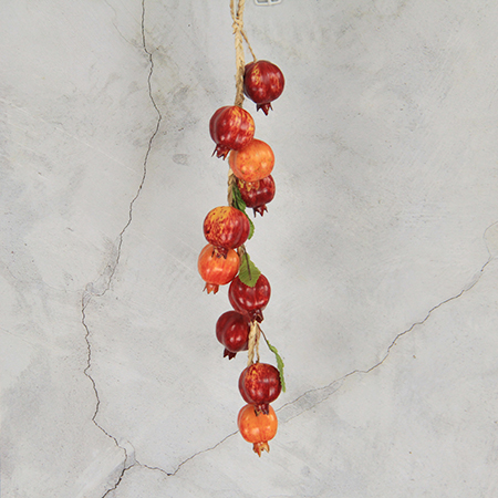 50Cm Artificial Simulation Decorative Fruits String Pomegranate Mixed Color