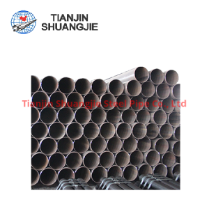 High quality API 5L ERW black carbon steel pipe