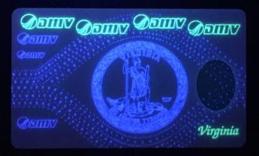 VA card with UV