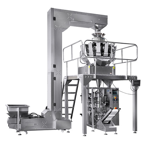 Automatic weighing packing line