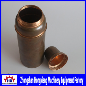 Copper Water Bottle Processing in CNC Auto Metal Spinning Lathe Machines Equipment