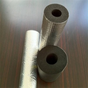 Rubber pipe with aluminum foil