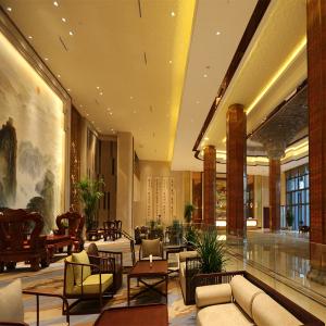 Ceiling lights on reception hall
