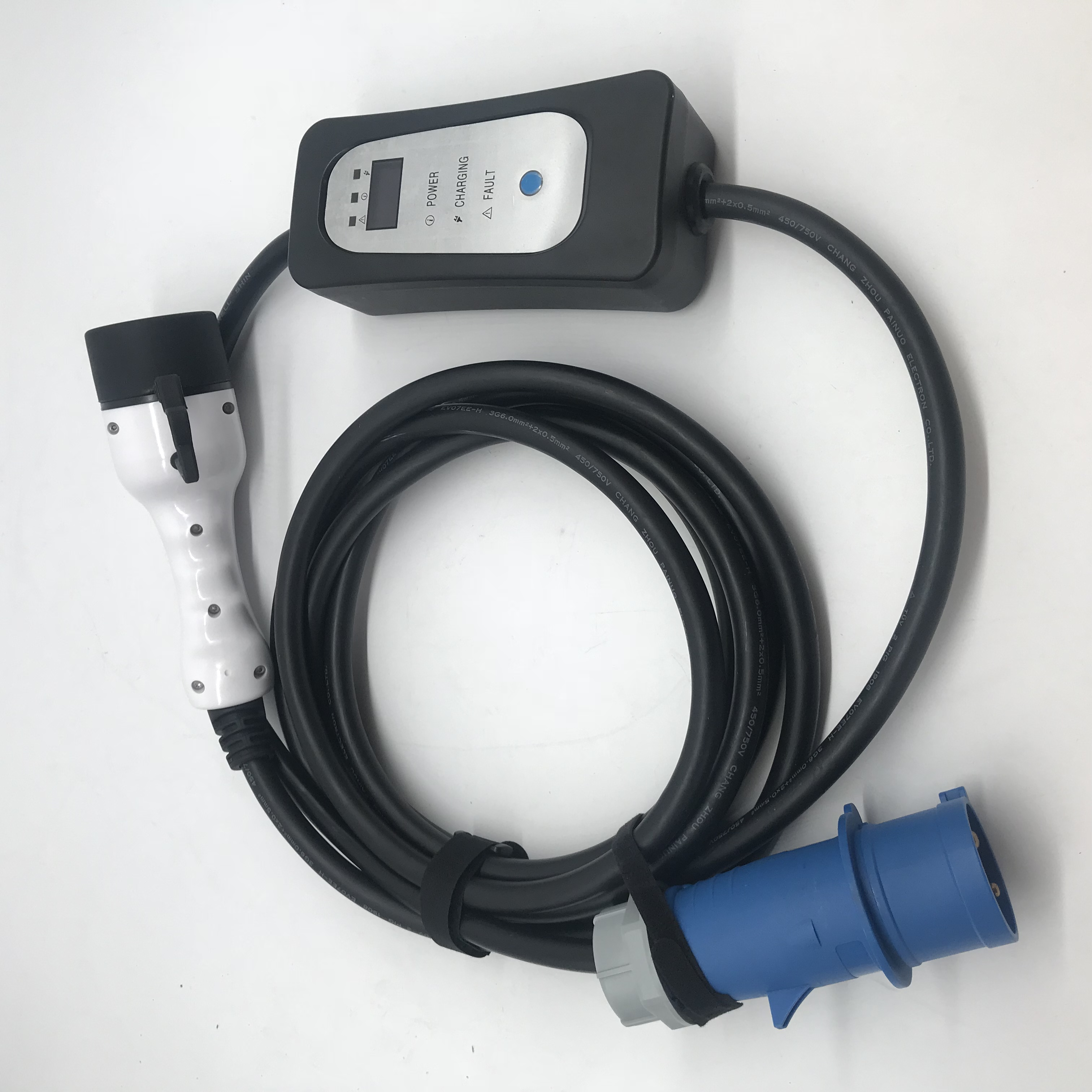 16A-32A Adjustable Mode 2 portable EV charger Type 1 Type 2 plug