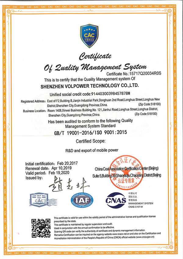 System authentication of ISO9001