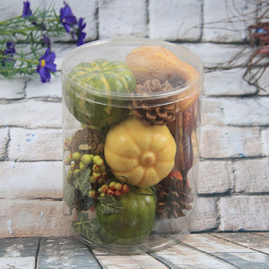 Artificial Decorative Vegetable Gift Box Ccrookneck Pumpkin/mill Pumpkin/Berry/pine Cone