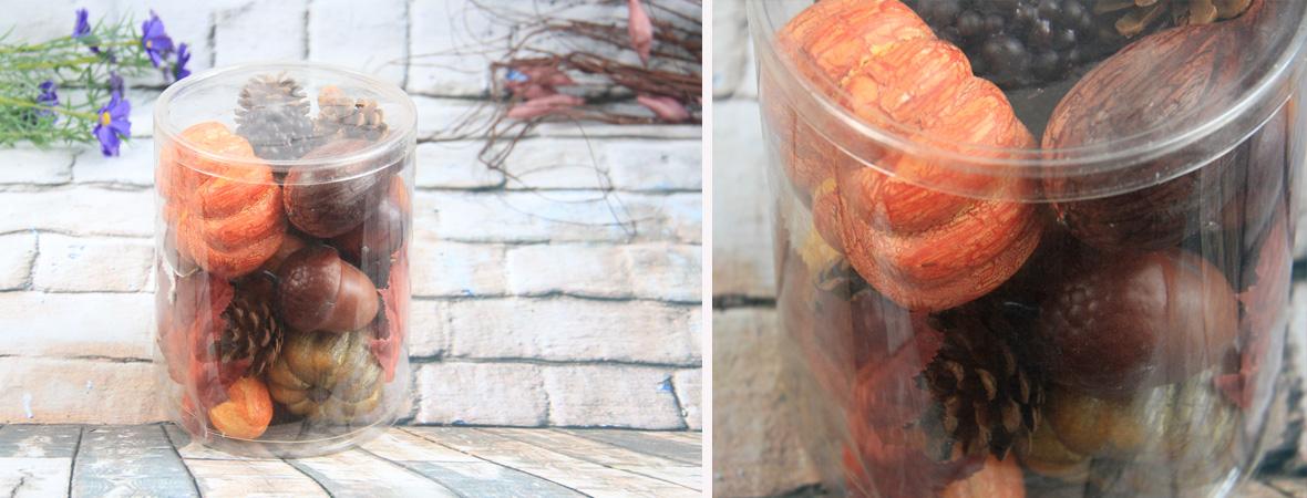 Artificial Decorative Vegetable Gift Box Cracked Crookneck Pumpkin