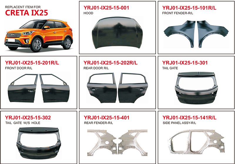 Hyundai Creta IX25 Auto Body Parts