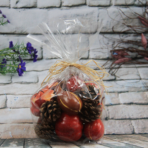 Artificial Decorative Vegetable Gift Box Ccrookneck Pumpkin/mill Pumpkin/red Berry/pine Cone