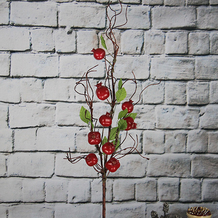 Artificial Decorative Fruits Spray Pomegranate
