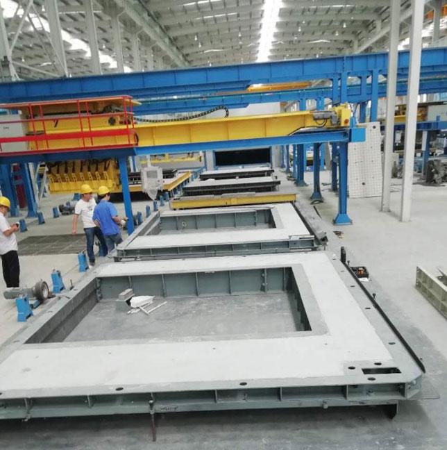 Prefabricated laminated slab mold