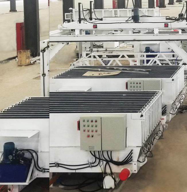 HWLJ  horizontal multifunctional vertical mold lightweight wallboard production line
