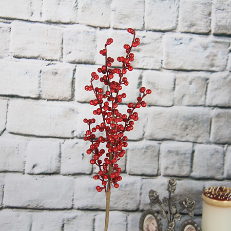 50cm Artificial Decorative Spray/pick With Red Berry