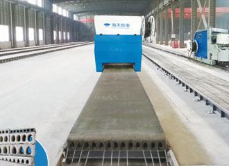 Línea de producción de componentes pretensados