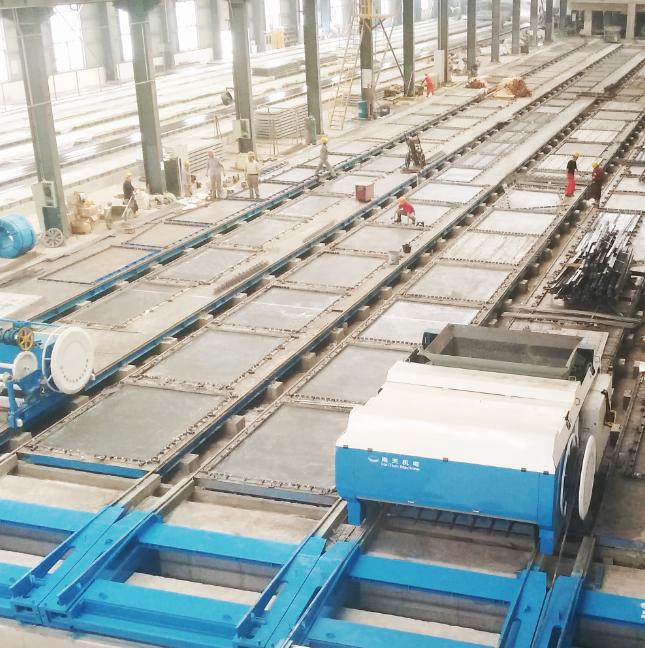 Línea de producción de máquina de conformado de paneles prefabricados de línea larga