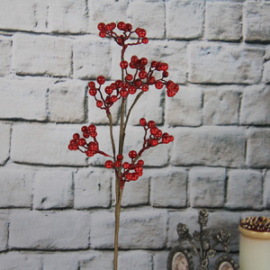 52cm Artificial Decorative Spray /pick With Red Berry