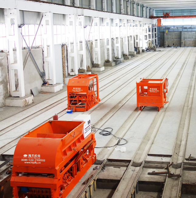 Prestressed long-line wallboard production line