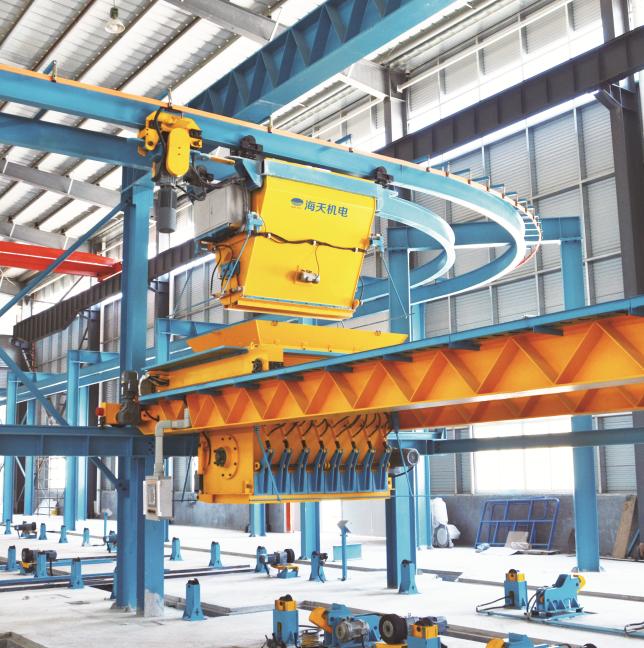 Precast concrete production line