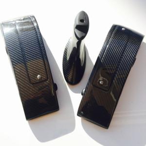 For Nissan R35 GTR GTR35 CBA DBA OEM Spoiler H Style Higher Legs Carbon fiber