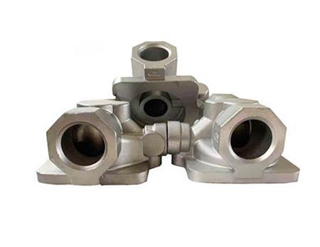 Lost wax casting valve body castings