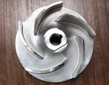 Precision casting semi-open impeller castings