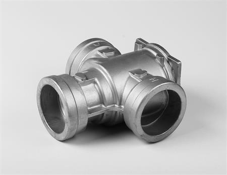 Precision cast-steel pipe tee
