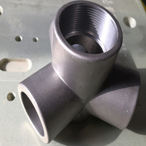 Lost wax casting threaded stainless steel pipe fittings