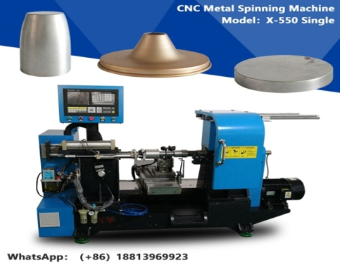 X-550 simple CNC Lathe Machine Mini Metal Lathe CNC Metal Aluminium Spinning Machine for Lamp Cup