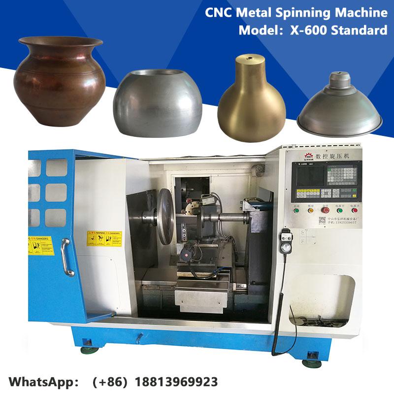 cnc metal stainless steel spinning lathe machine X-600 Standard
