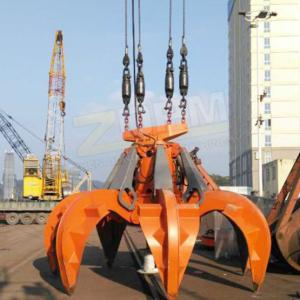 Hydraulic steel scrap grab