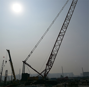 WTAU Safe Monitoring System for SANY 650T Crawler Crane Passed the Inspection