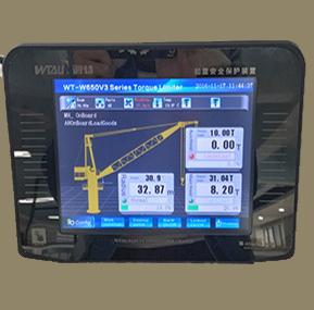 3t vesel crane SLI & alarm system &  LMI  for CNOOC ship crane at dubai UAE