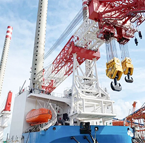Haixi  1200t  Vessel crane  equipped  with WTAU  WTL-A700 LMI safe  load indicator system