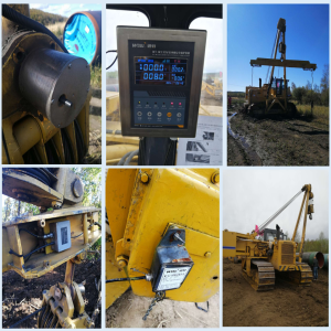 Pipelayer side  boom  crane Safe Load Indicator System technical Solution