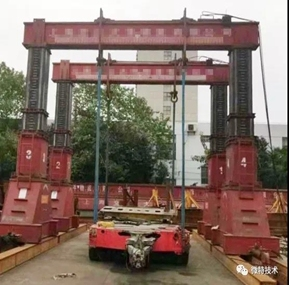 Weite hydraulic type gantry crane monitoring system project was successfully accepted