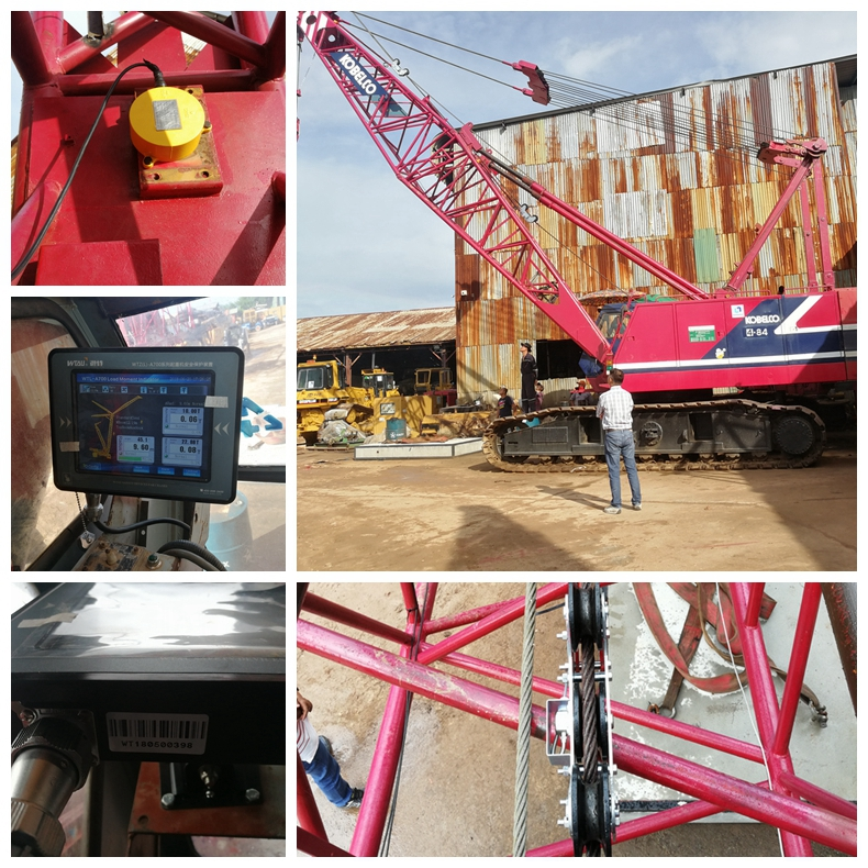 80t kobelco 7080 crawler crane automatic safe load moment indicator system