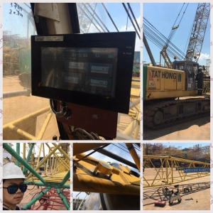 80t lattice crawler crane safe load indicator system for Tathong heavy equipment hydraulic crawler crane