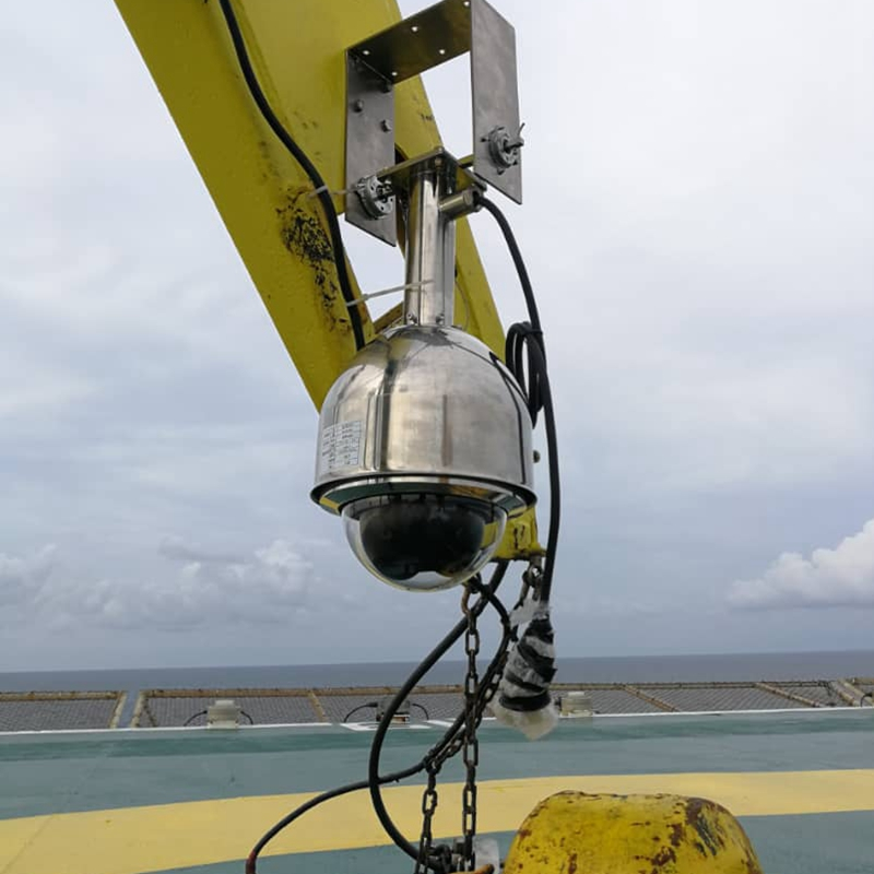 Flame proof Offshore Crane CCTV Camera System for  Malaysia oil & gas industry