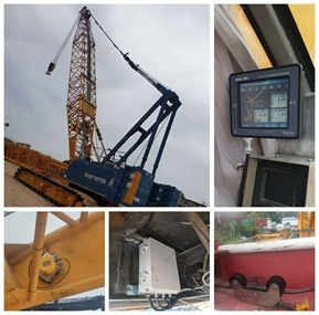 Sarens choose  WTAU brand  Load  Moment  Indicator  System  for their  Lattice  Boom  Sany cranes