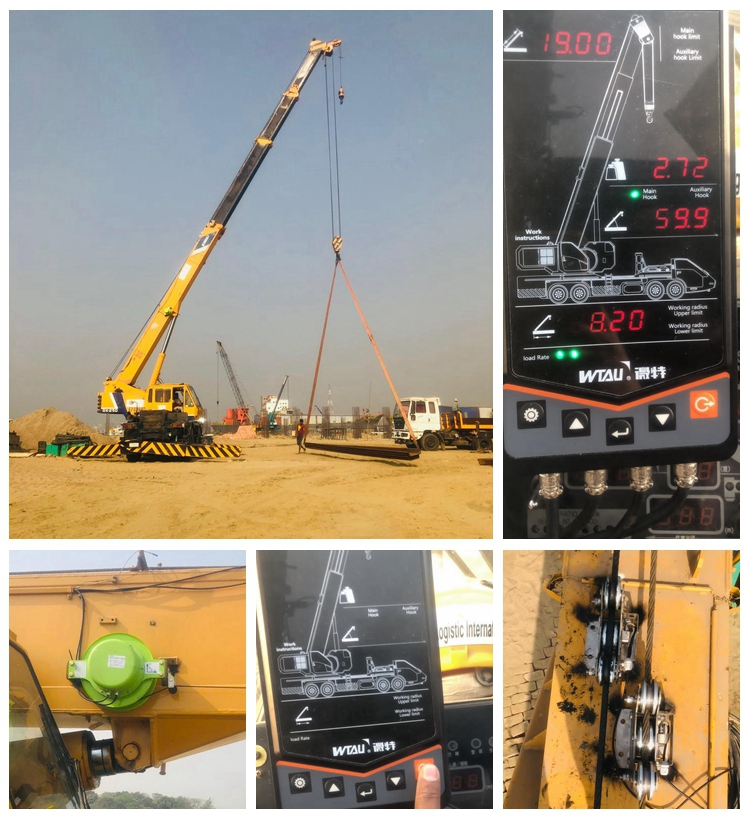 Kobelco  RK250 25t mobile crane equipped  with wtau WTL-A100N safe load indicator system in bangladesh