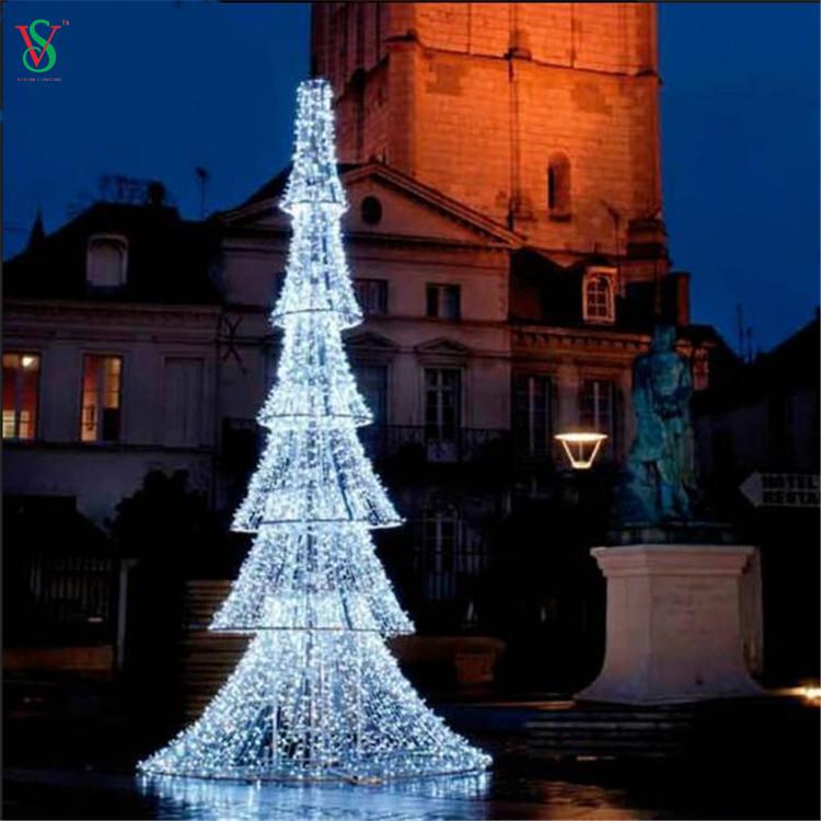 Christmas Lighted Tower Shape Tree