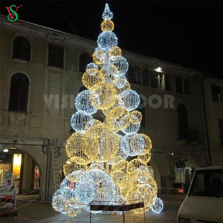 Giant 20ft Sphere Ball Tree Lights