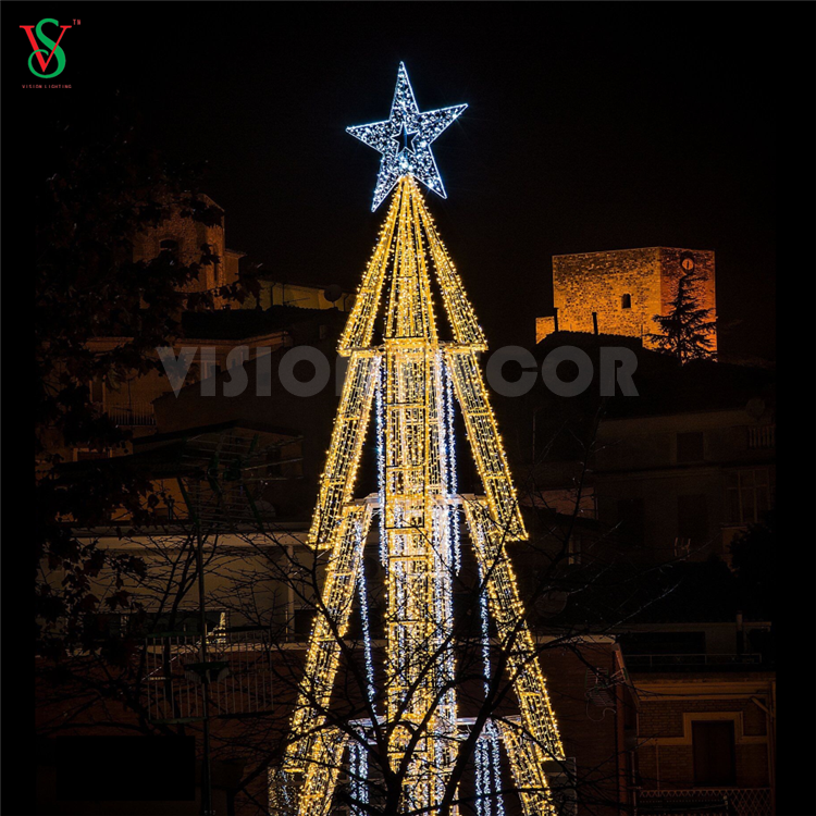 3D Gold Tree Outdoor Christmas