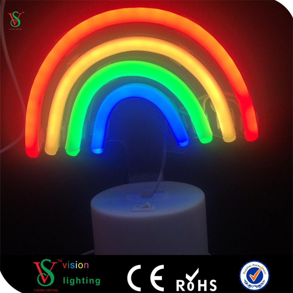Rainbow Neon Sign For Desk Decoration