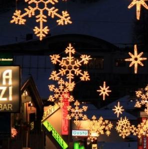 LED snowflake shape lamp effect