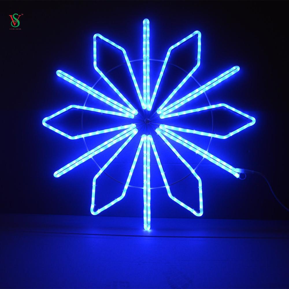 Blue LED Snowflake Light