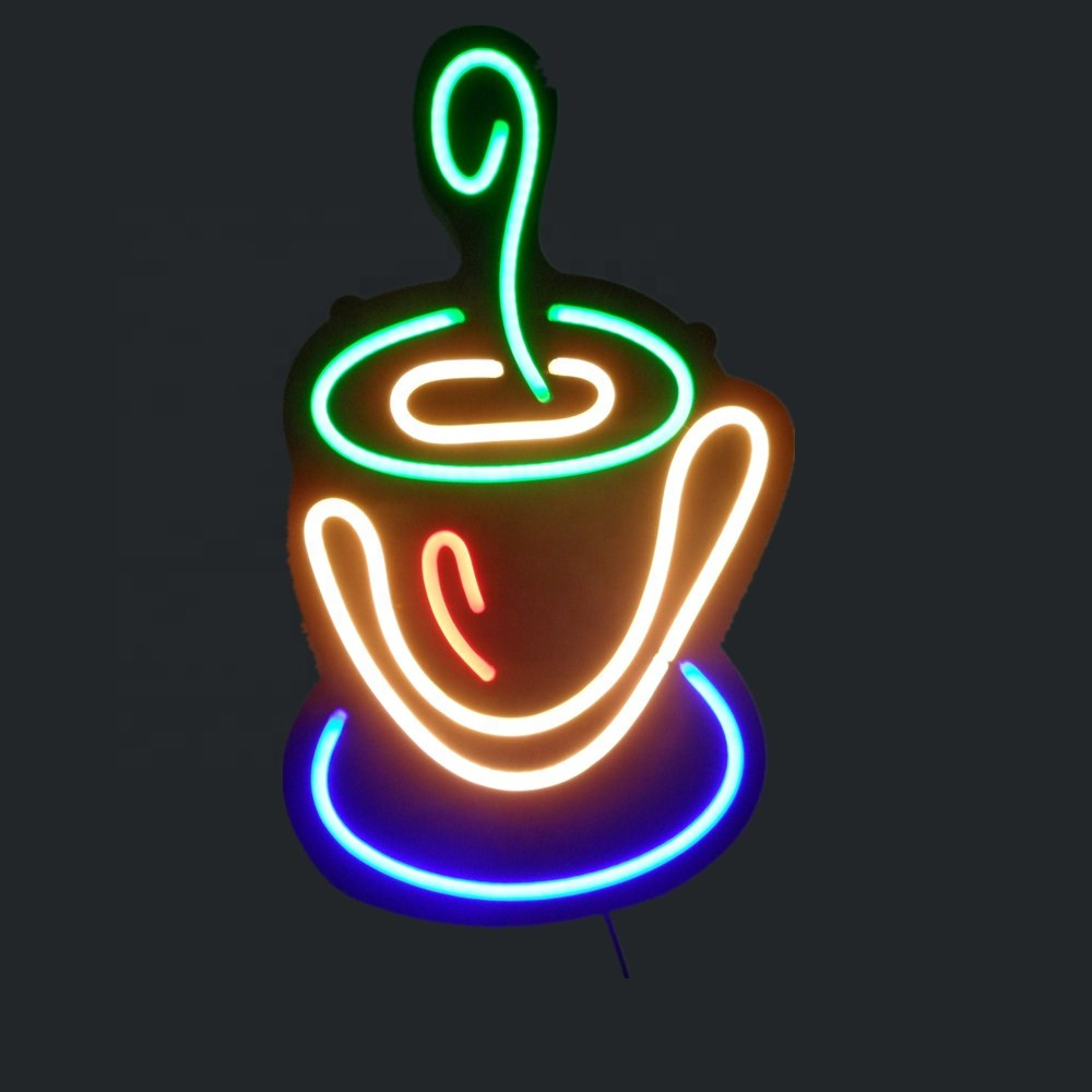 LED neon sign for coffee shop